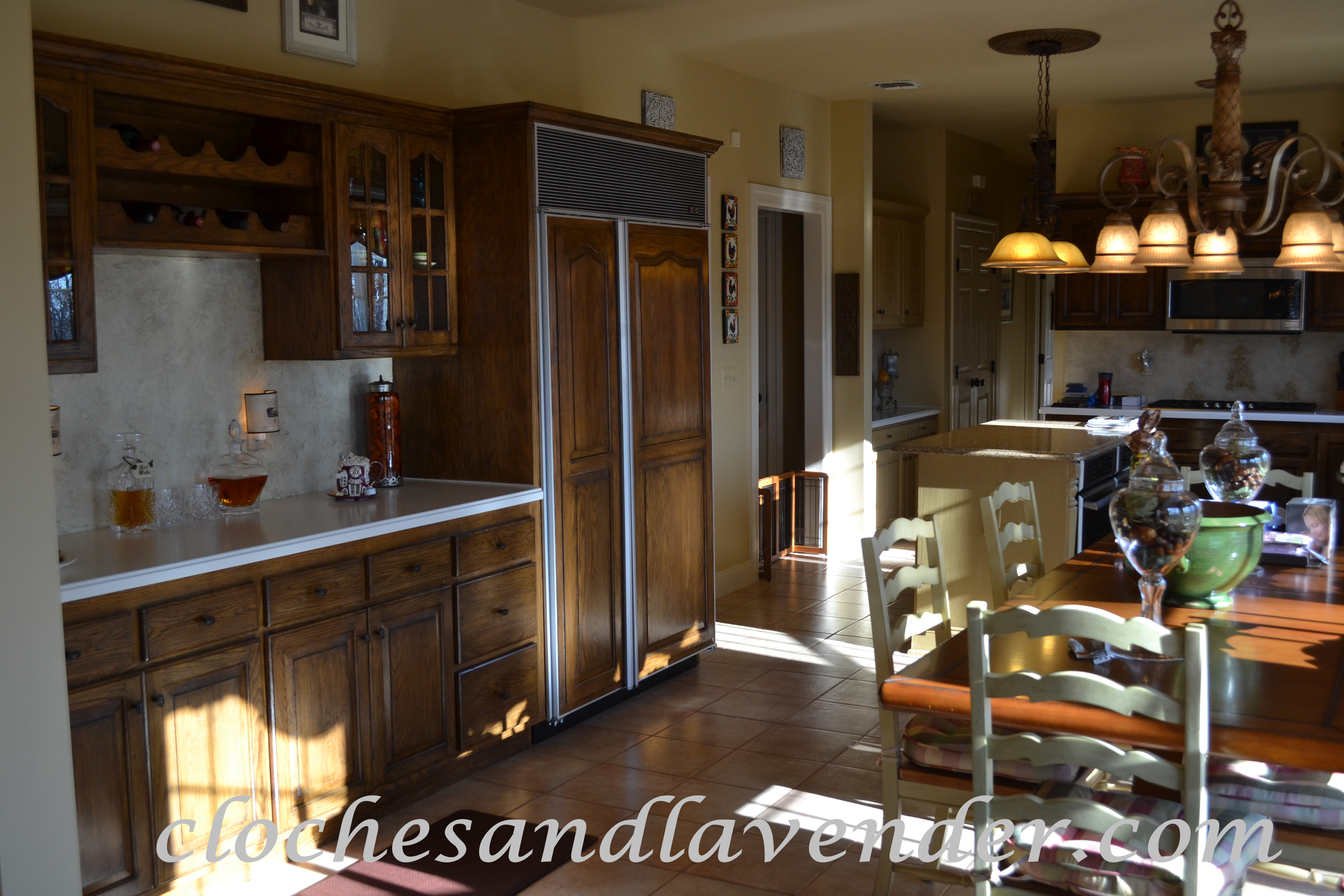 Kitchen project on a budget the bar area cloches lavender - Bar area in kitchen ...