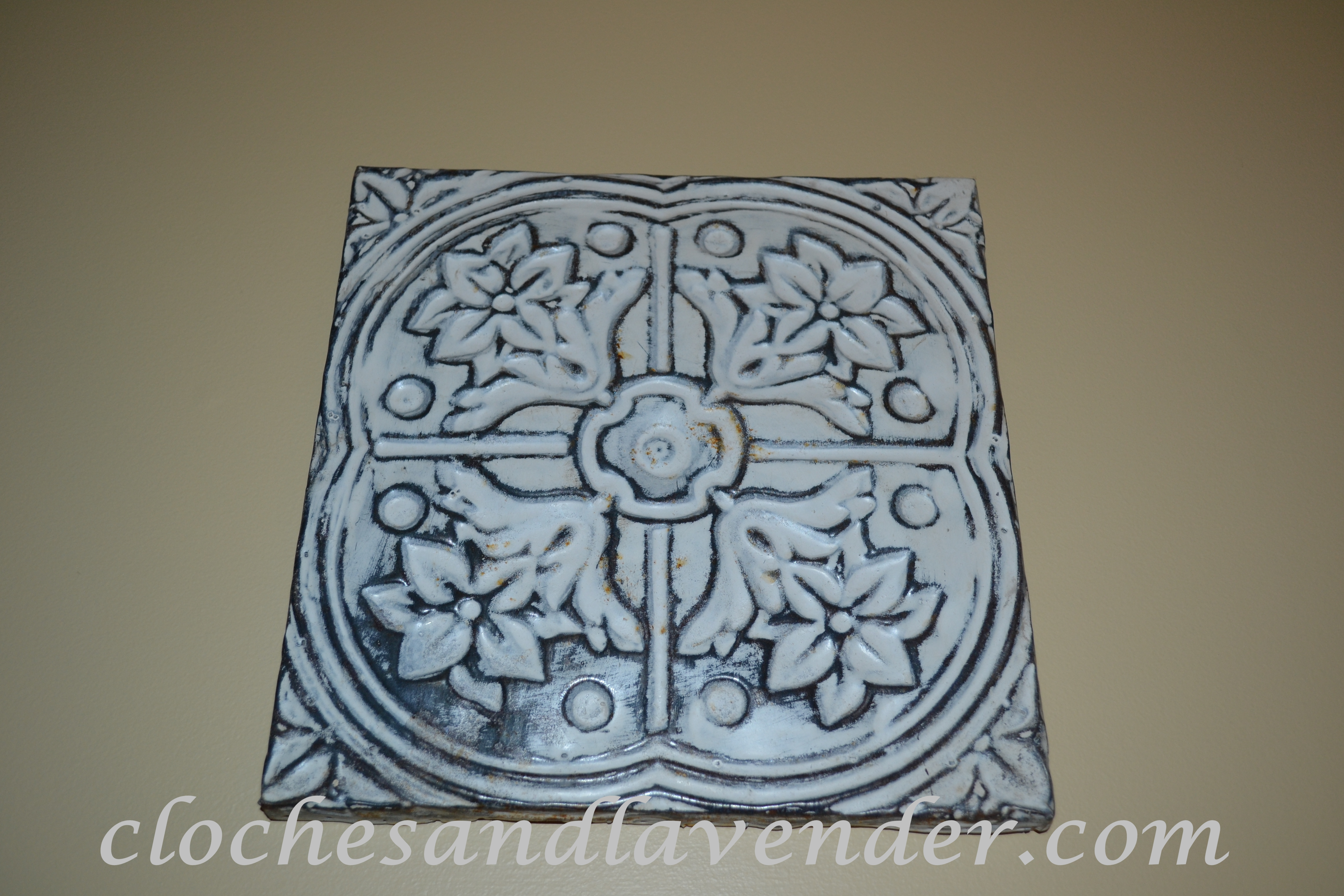 Ceiling Tile Wall Art Cloches Lavender