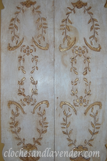 Plaster Stencil Detail in 14k Gold Paint