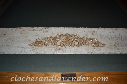 Table Leaf With Plaster Treatment