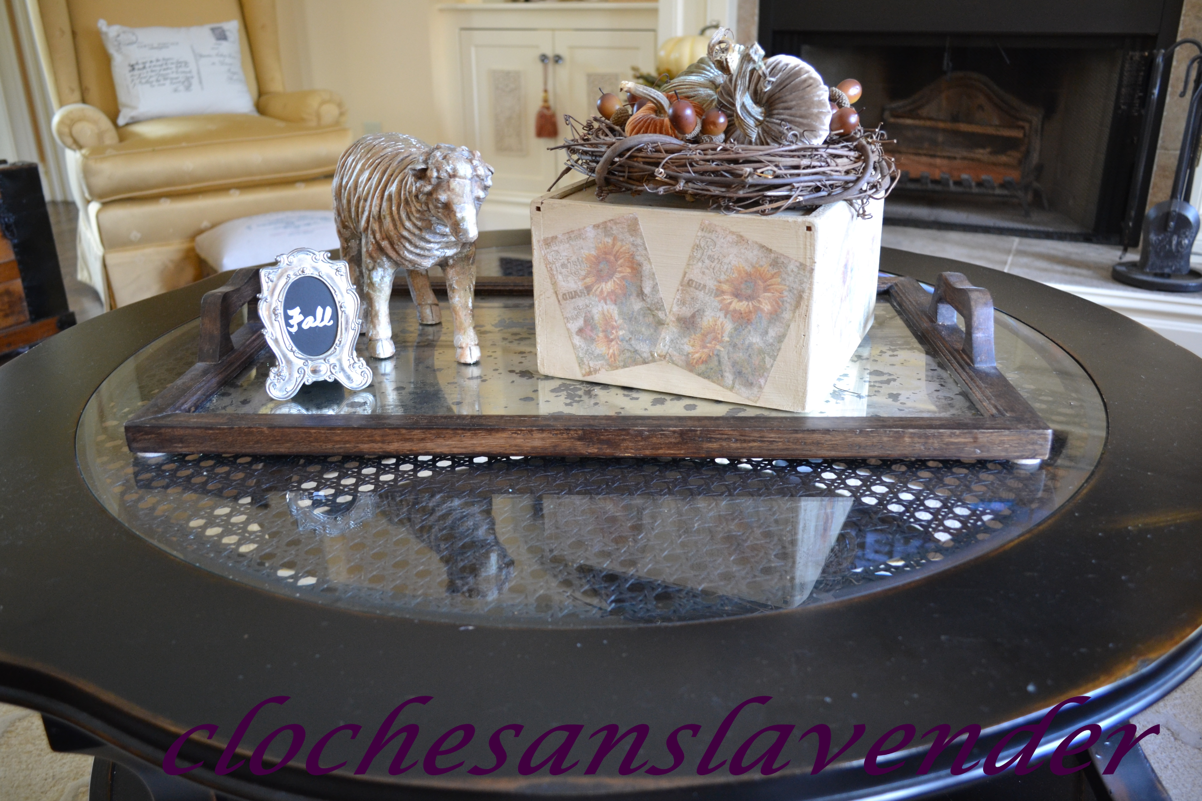 fall touches in the great room cloches u0026 lavender